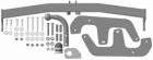 Фаркоп Motodor Renault Sandero 2008-2014 (оцинк. шар)