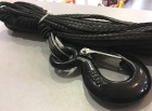 Трос синтетический Liros для лебедки 6мм с крюком (15м)