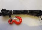 Трос синтетический Liros для лебедки 5мм с крюком (15м)